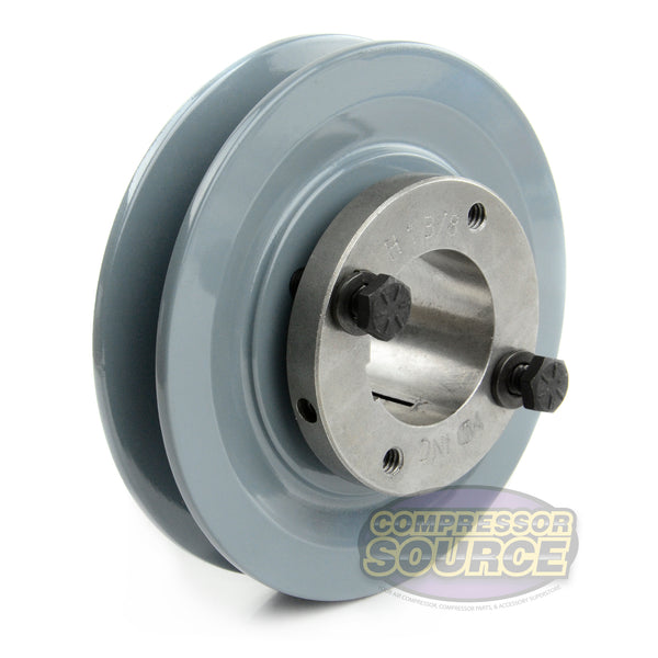 "4.5"" Cast Iron Single Groove Pulley B Belt (5L) Style 1-3/8"" Shaft BK47H"