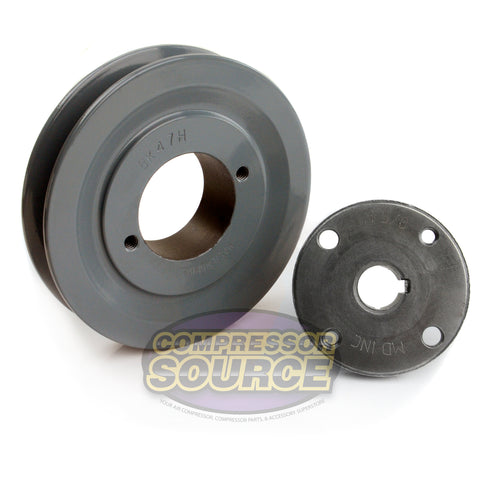 "4.5"" Cast Iron Single Groove Pulley B Belt (5L) Style 5/8"" Shaft BK47H"