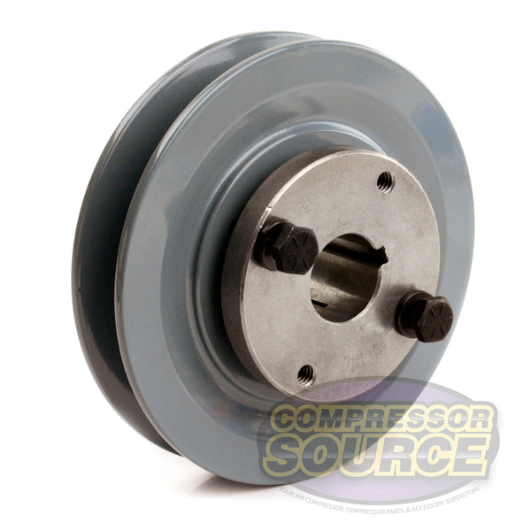 "4.5"" Cast Iron Single Groove Pulley B Belt (5L) Style 7/8"" Shaft BK47H"