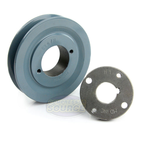 "4.5"" Cast iron Single Groove Pulley B Belt (5L) Style 1"" Shaft BK47H"