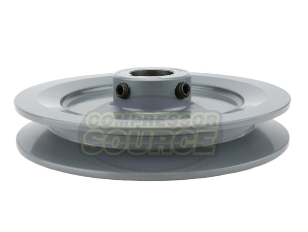 "5.5"" Cast Iron Single Groove Pulley B Belt (5L) Style 7/8"" Shaft BK57 7/8"