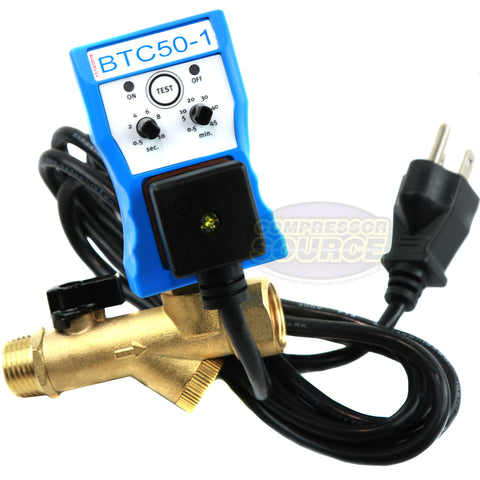 Automatic Electronic Air Compressed Tank Moisture Water Time Drain Valve BelAir