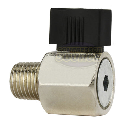 "1/4"" Male NPT Manual Ball Valve Style Air Compressor Tank Drain Petcock"
