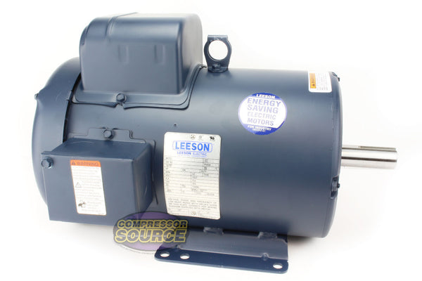 Leeson 5 HP 1 Phase TEFC Electric Motor Totally Enclosed 184T Frame 230 Volts 1740 RPM