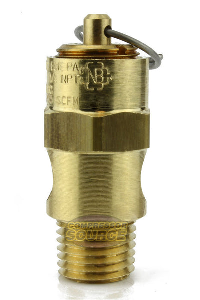 "175 PSI 1/4"" Male NPT Air Compressor Pressure Relief Safety Pop Off Valve"
