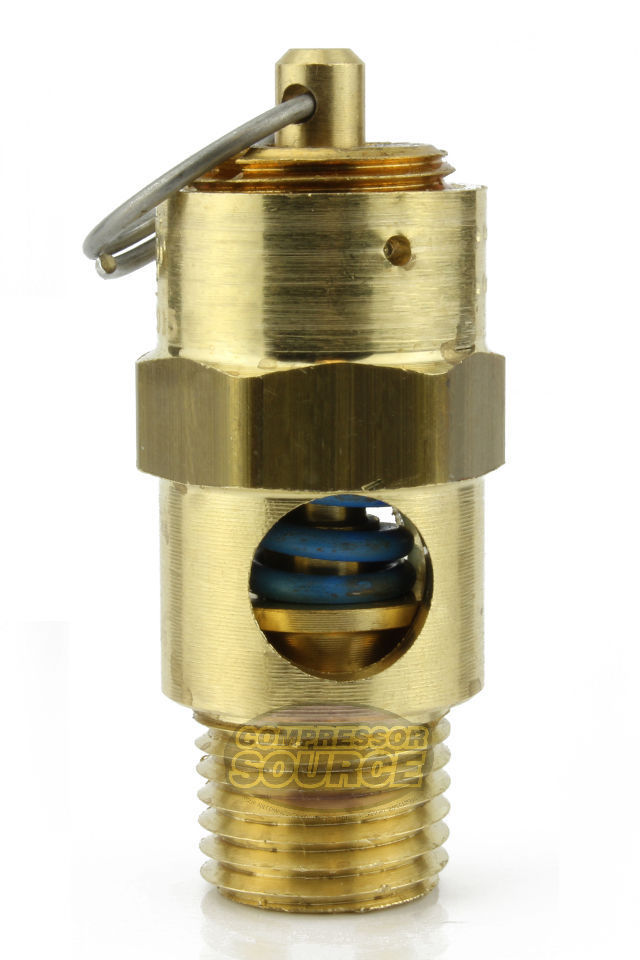 "25 PSI 1/4"" Male NPT Air Compressor Pressure Relief Safety Pop Off Valve"