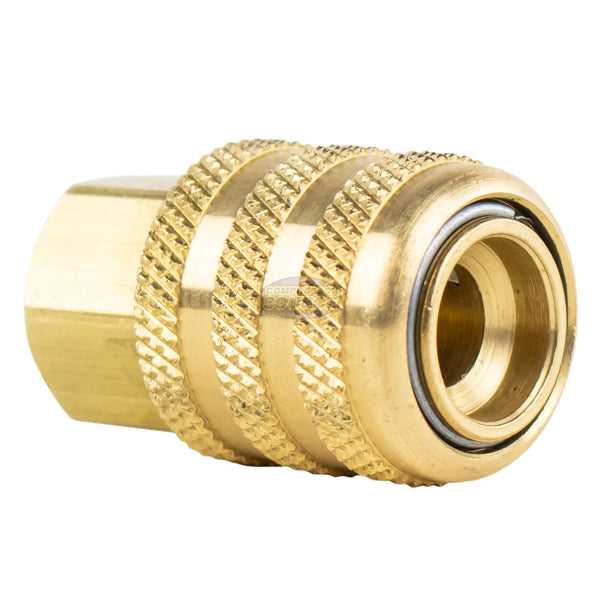 "Open Lock On Chuck Brass 1/4"" FNPT Closed Check Coilhose Pneumatics CH15-DL"