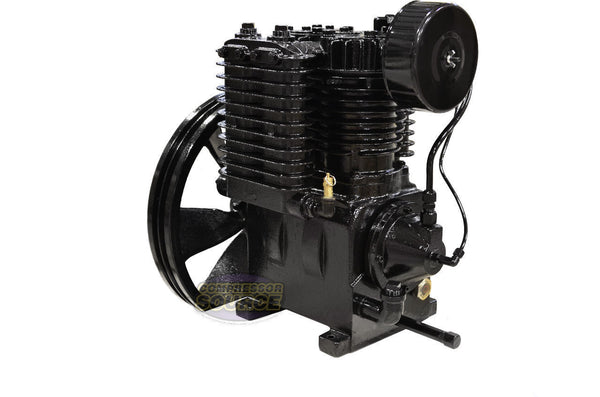 5 Horsepower Cast Iron 2 Stage Air Compressor Pump CI5