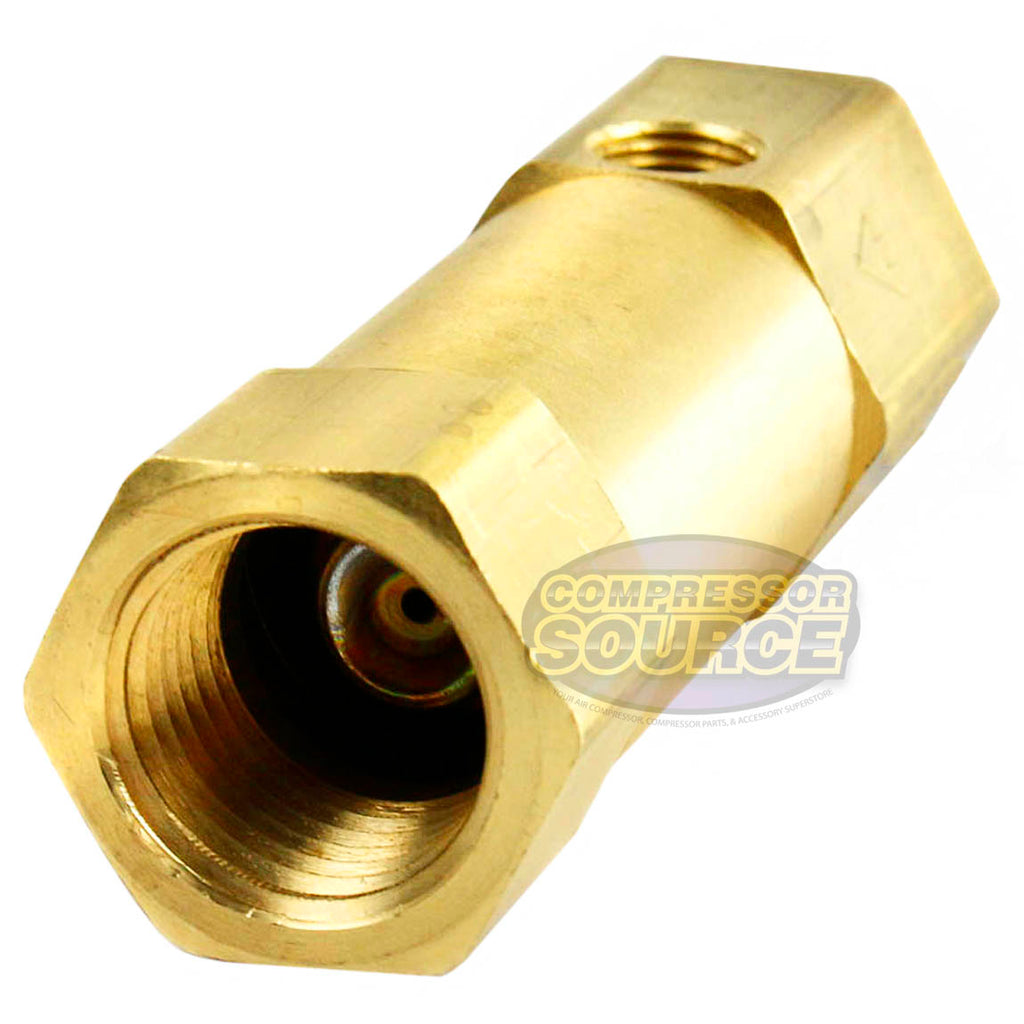 "1/2"" x 1/2 Inch Female NPT In Line Brass Compressed Air Check Valve CIL1212U New"