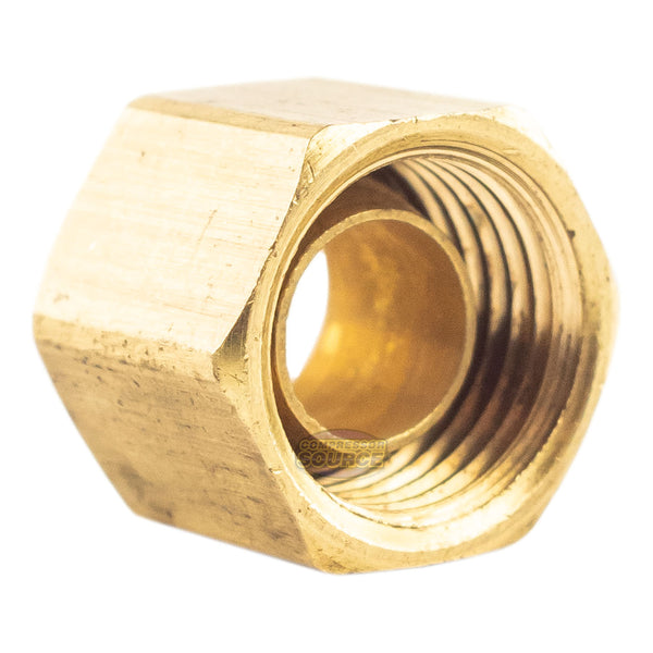 "1/4"" Compression Nut & Ferrule Combo for 1/4"" OD Tube Brass Captive Sleeve Nut"