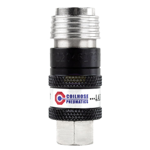 "Coilhose 150USE 5 in 1 Automatic Safety Exhaust Coupler 1/4"" Body x 1/4"" FNPT"