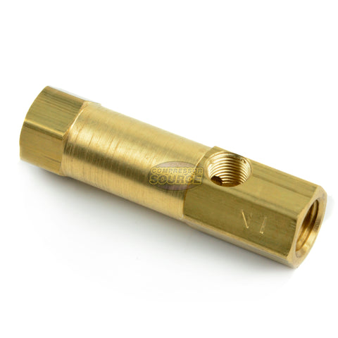 "In-Line Brass Check Valve 1/4"" Female NPT x 1/4"" Female NPT"
