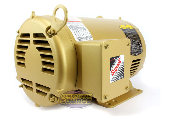 Baldor 5 HP Three Phase Electric Compressor Motor 184T Frame 230V 1750 RPM