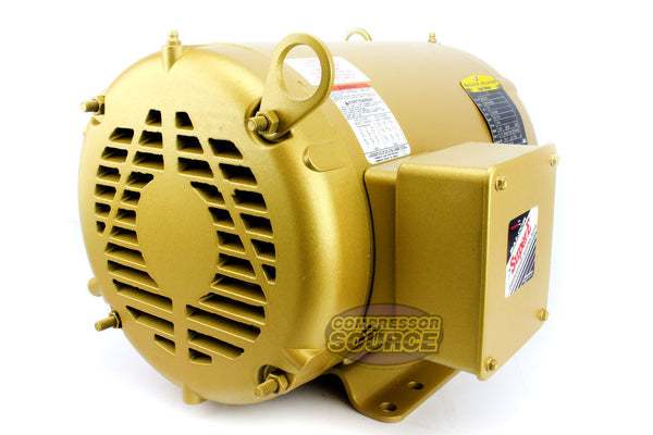 Baldor 10 HP Three Phase Electric Compressor Motor 215T Frame 230V 1770 RPM
