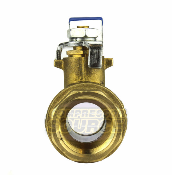 "1"" Female NPT Brass Ball Shut Off Valve Water Air Fluid 600 PSI WOG Full Port"