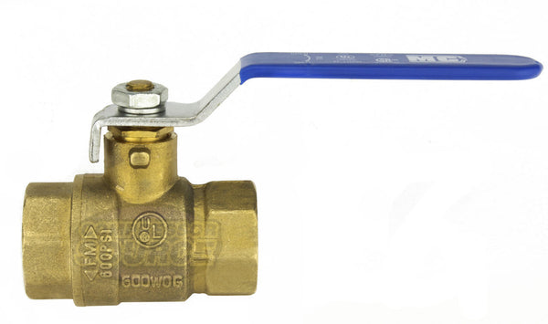 "1/2"" Female NPT Brass Ball Shut Off Valve Water Air Fluid 600 PSI WOG Full Port"