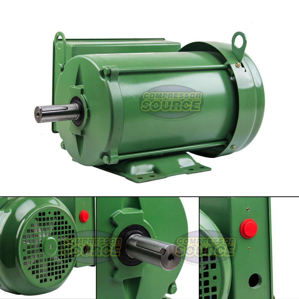 3 HP Farm Duty Single Phase Electric Motor 1800 RPM 184T Frame TEFC 208/230 Volt