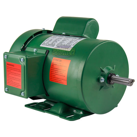 1 HP Single Phase Farm Duty Electric Motor 56 Frame 1800 RPM TEFC Enclosure