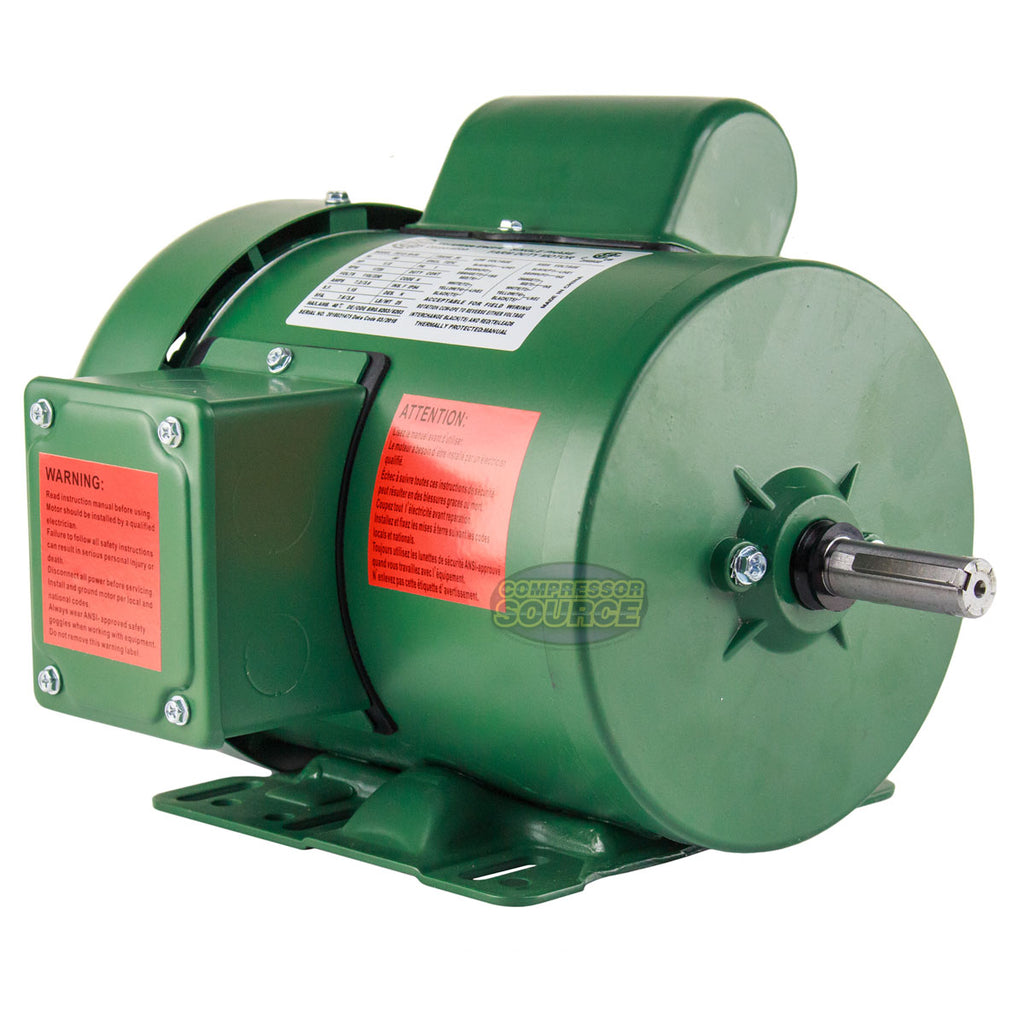 1/2 HP Single Phase Farm Duty Electric Motor 56 Frame 1800 RPM TEFC Enclosure