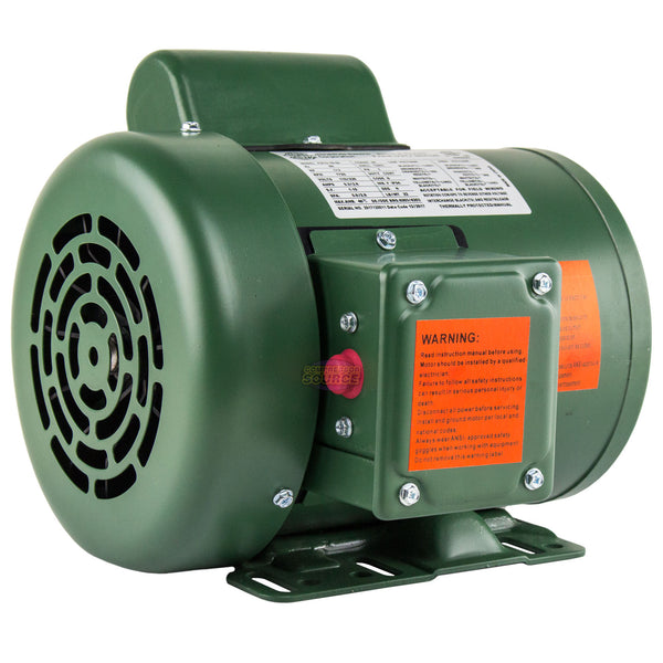 1/3 HP Single Phase Farm Duty Electric Motor 56 Frame 1800 RPM TEFC Enclosure