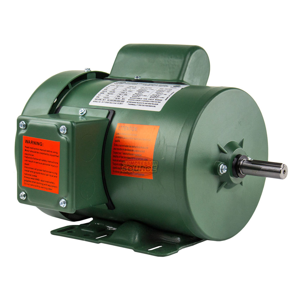 3/4 HP Single Phase Farm Duty Electric Motor 56 Frame 1800 RPM TEFC Enclosure