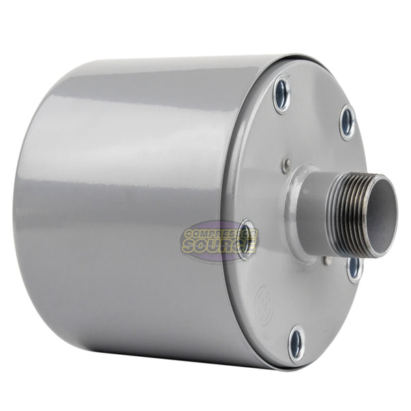 "1-1/4"" MNPT Metal Intake Filter / Silencer Housing with Element Made in USA"