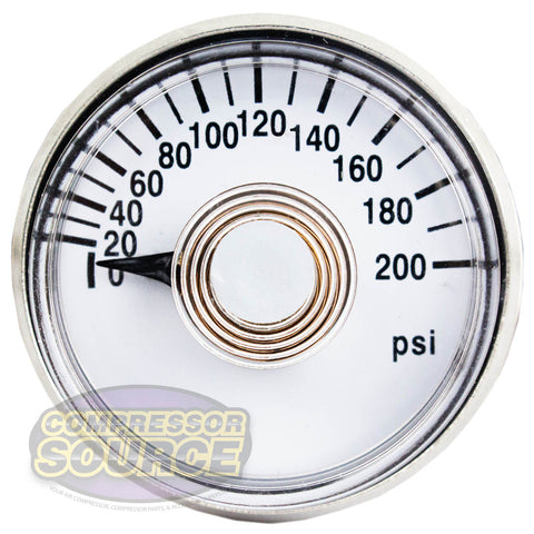 "1 1/2"" Face 200 PSI Air Compressor Gauge OEM Mount Replacement Rolair GA0125200"