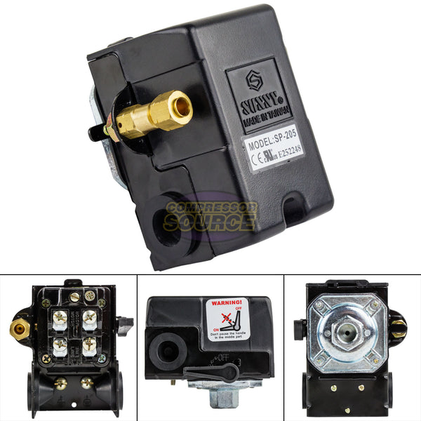 Heavy Duty 25 Amp Air Compressor Pressure Switch Control Valve 145-175 PSI