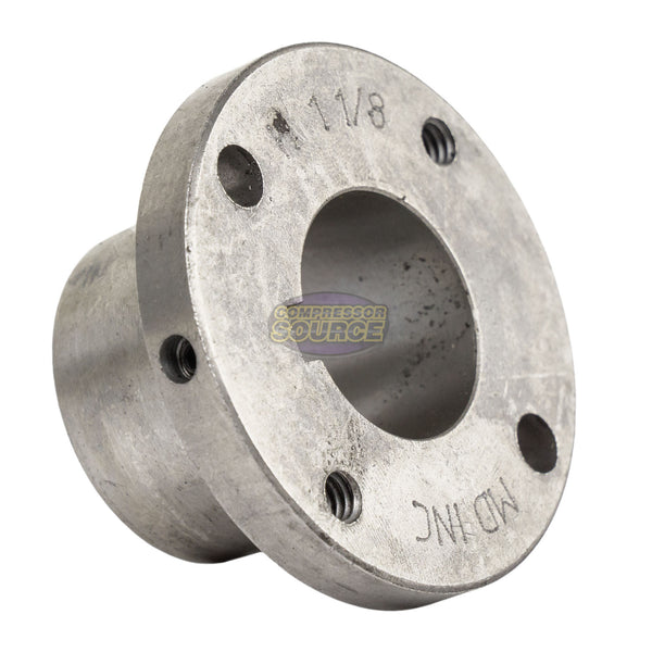 "Cast Iron 8.75"" Single 1 Groove Belt A Section 4L Pulley w 1-1/8"" Sheave Bushing"