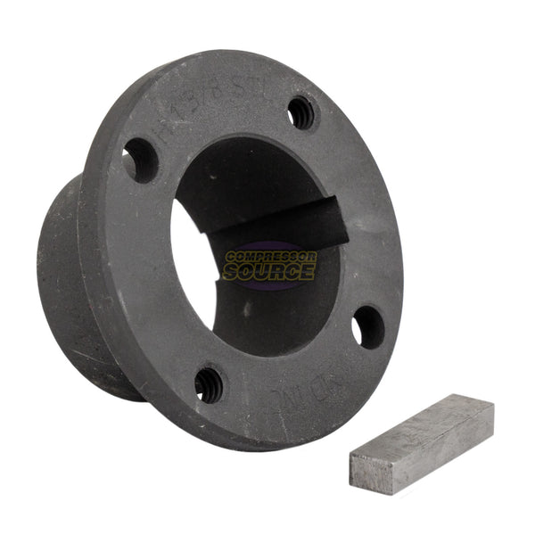 "7.75"" 2 Piece Cast Iron Single 1 Groove Belt A Section 4L Pulley With 1-3/8"" Sheave Bushing"