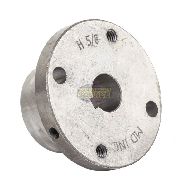 "8.25"" 2 Piece Cast Iron Single 1 Groove Belt A Section 4L Pulley w/ 5/8"" Sheave Bushing AK84H"
