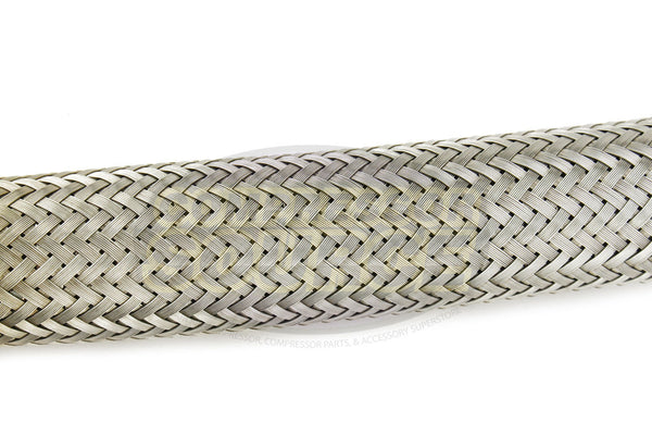 "1"" x 18"" Stainless Steel Compressed Air Line Metal Flex Hose Tubing"