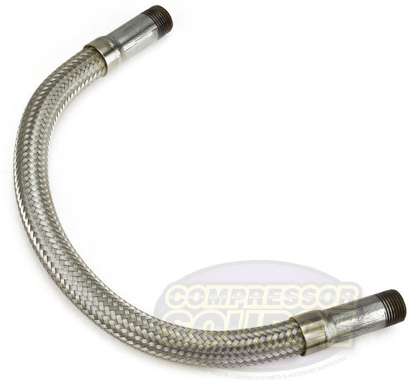 "1/2"" x 18"" Stainless Steel Compressed Air Line Metal Flex Hose Tubing"