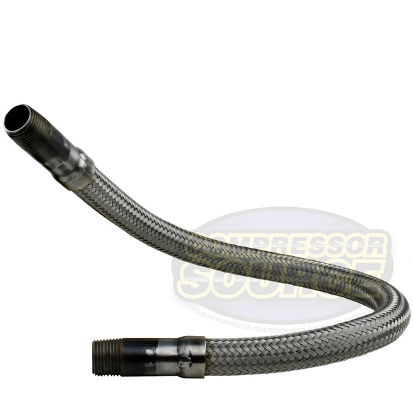 "1/2"" x 24"" Stainless Steel Compressed Air Line Metal Flex Hose Compressor Tube"