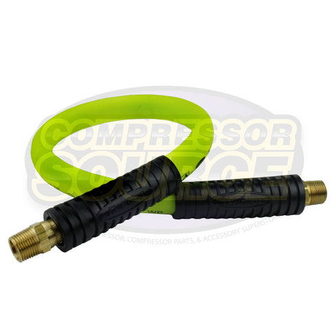 "New Flexzilla 1/2"" x 2' FT Air Hose Whip With 3/8"" MNPT Swivel End HFZ1202YW3S"