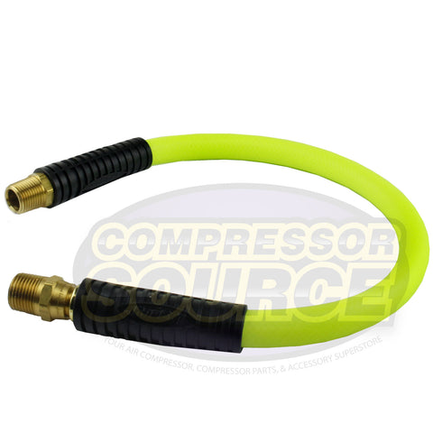"New Flexzilla 1/2"" x 2' FT Air Hose Whip With 1/2' MNPT Swivel HFZ1202YW4S"