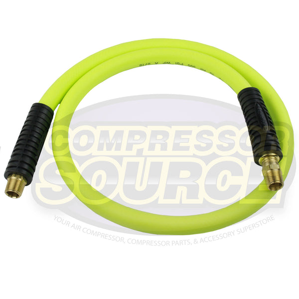 "New Flexzilla 1/2"" x 4' FT Air Hose Whip With 1/2"" MNPT Swivel HFZ1204YW4S"