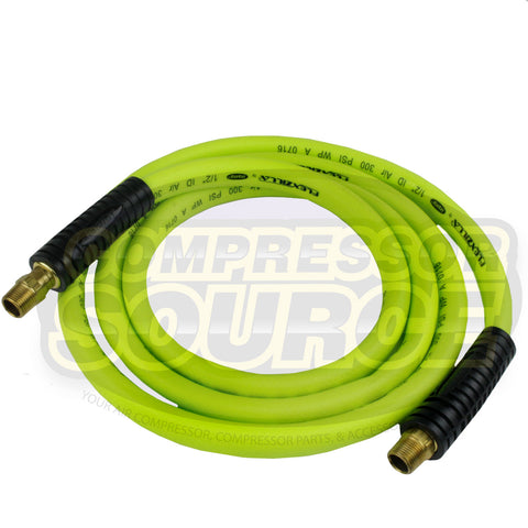 "New Flexzilla 1/2"" x 8' FT Air Hose Whip With 3/8' MNPT Swivel HFZ1208YW3S"