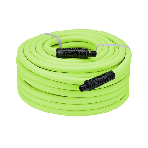 "Legacy Premium 1/2"" X 50' Air Hose Polymer Green Flexzilla 300 PSI Won't Kink"