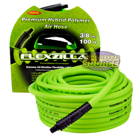 Legacy Flexzilla 3/8 in x 100 ft Air Hose Premium Hybrid 300 PSI High Quality