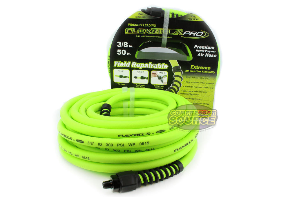 "Flexzilla Pro Field Repairable 3/8"" x 50' Air Hose"