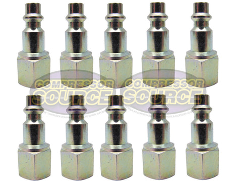 "10 Pack of Prevost 1/4"" Female NPT Industrial Style Steel Coupler Plug IRP066201"