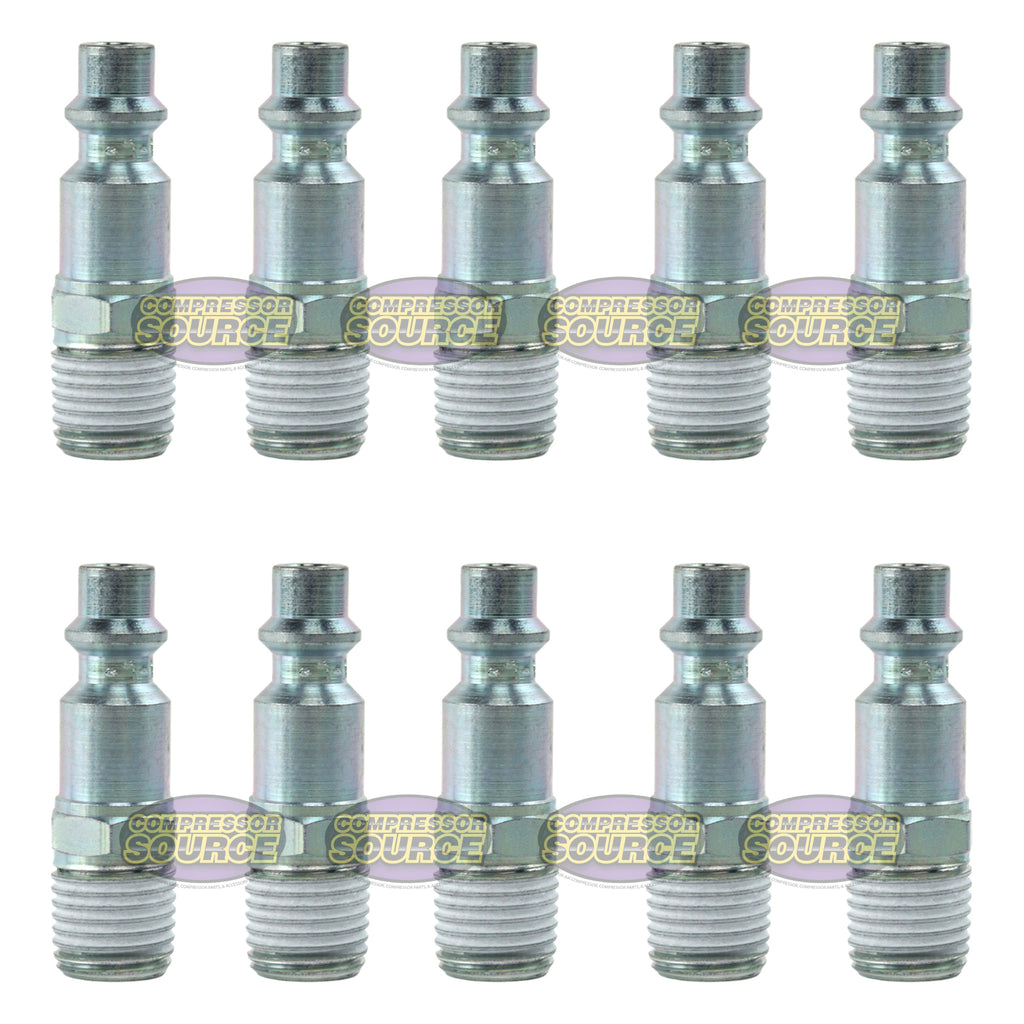 "10 Pack of Prevost 1/4"" Male NPT Industrial Teflon Coated Steel Plug IRP066251"
