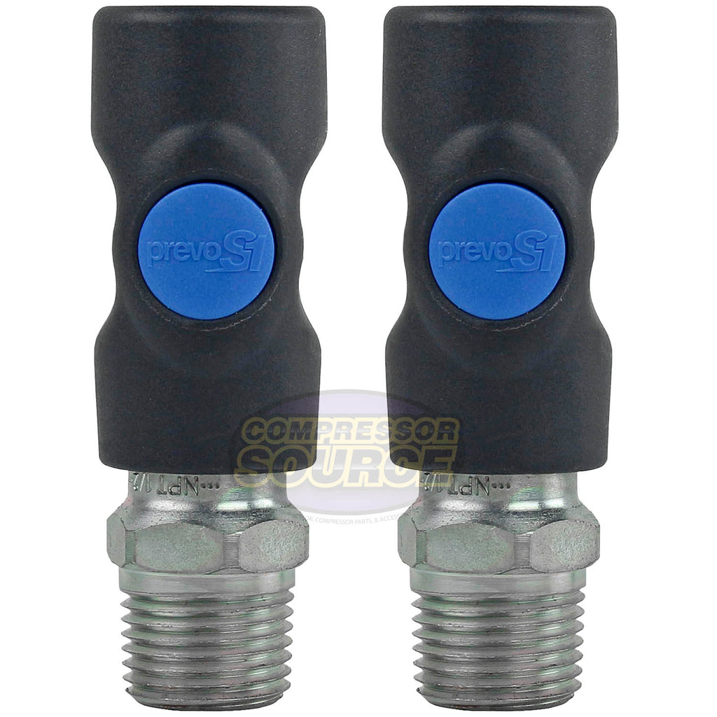 "2 Pack Prevost Safety Air Plug Coupler ISI061253 1/4"" 1/2"" MNPT Quality Prevo S1"