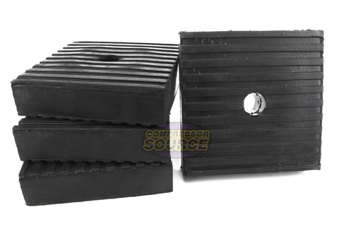 "Set of 4 Industrial Anti Vibration Pads 4"" x 4"" x 1"" Thick"