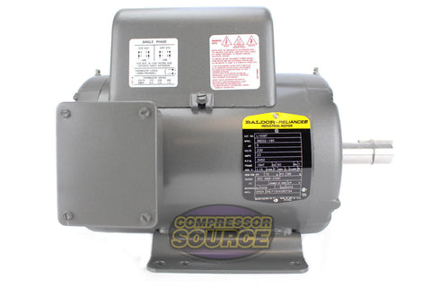 Baldor 5 HP Single Phase Electric Compressor Motor 184T Frame 230V 3450 RPM