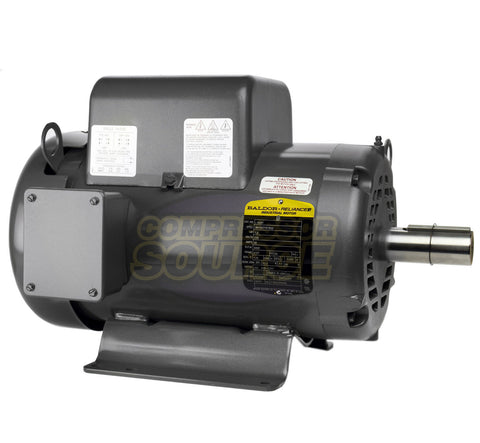 Baldor 7.5 HP Single Phase Electric Compressor Motor 213T Frame 230V 3450 RPM