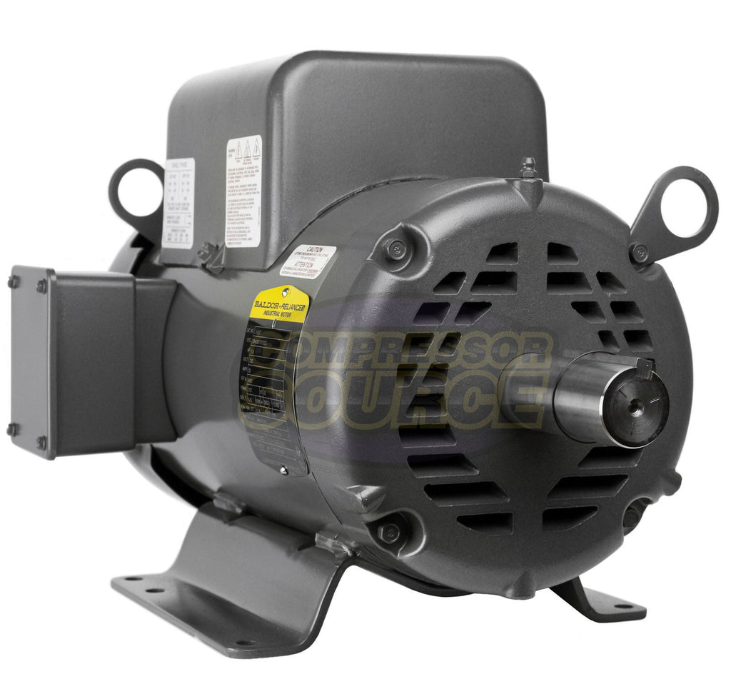 Baldor 7 5 hp single phase electric compressor motor 213t for 7 5 hp 3 phase motor