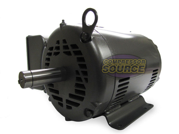 Baldor 10 HP Single Phase Electric Compressor Motor 215T Frame 230V 1725 RPM