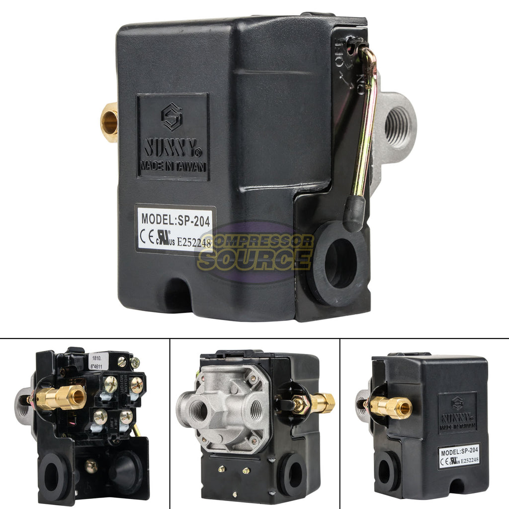 4 Port 25 Amp 95-125 PSI Heavy Duty Air Compressor Pressure Switch